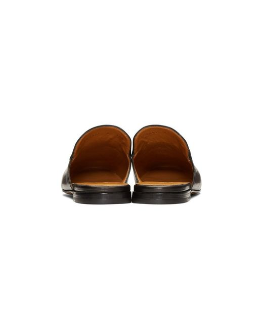 ff8ffacdd ... Gucci - Black Tiger Princetown Slippers for Men - Lyst ...