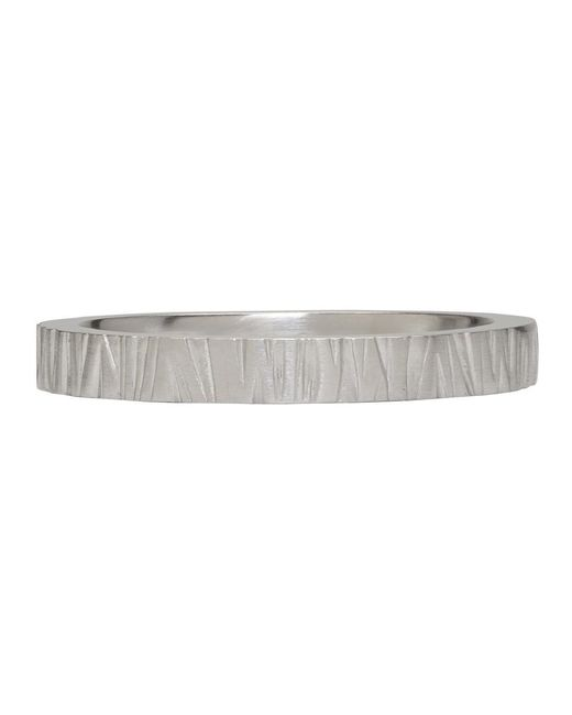 Tom Wood - Metallic Silver Structure Ring for Men - Lyst
