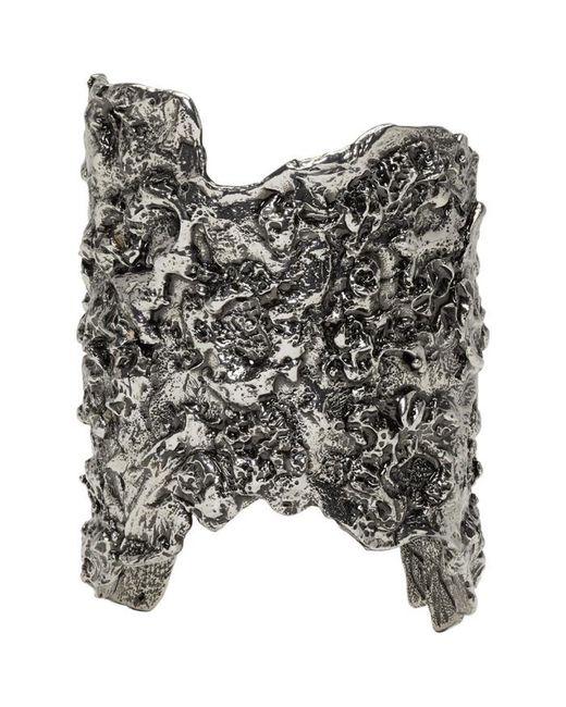 Alexander McQueen | Metallic Silver Molten Metal Cuff | Lyst