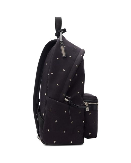 2da4e76fc4 ... Saint Laurent - Black Canvas City Backpack for Men - Lyst ...