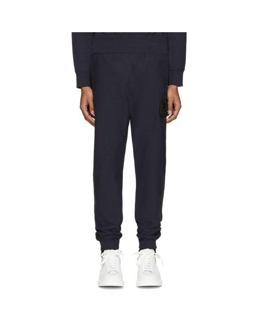 Alexander McQueen | Black Navy Embroidered Lounge Pants for Men | Lyst