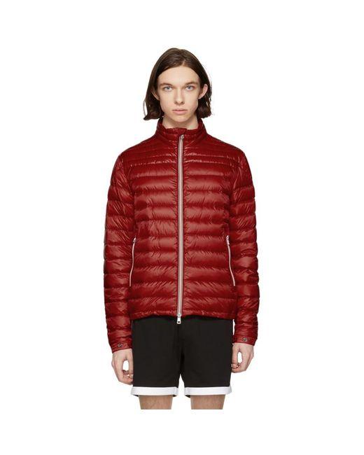 Moncler - Red Down Daniel Jacket for Men - Lyst