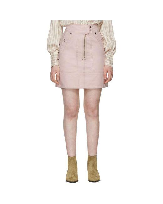 Isabel Marant - Pink Natalia Chic Denim Miniskirt - Lyst