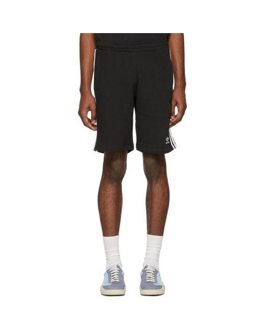 f96bbb3a5d adidas Originals Black 3-stripe Shorts in Black for Men - Lyst