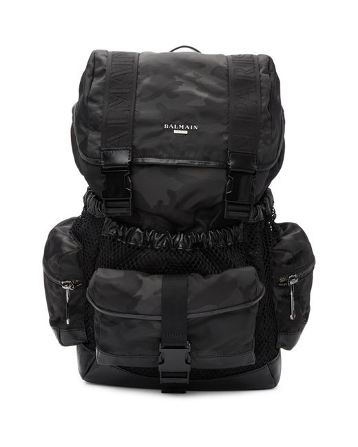97b2d7423092 Balmain Black Camo Elite Army Backpack in Black for Men - Lyst