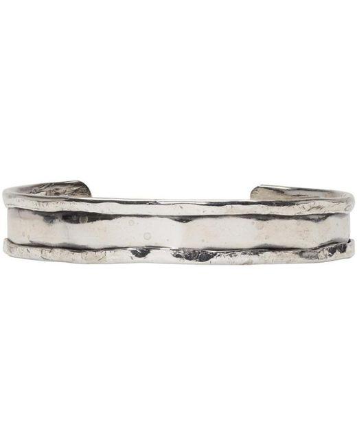 Emanuele Bicocchi | Metallic Silver Rigid Bracelet for Men | Lyst