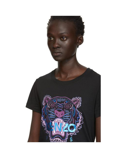 91008bbf ... KENZO - Black Limited Edition Holiday Tiger T-shirt - Lyst ...