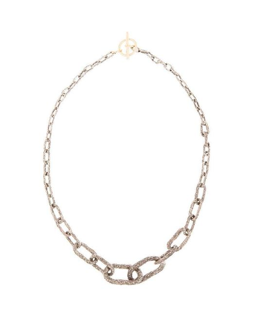 Pearls Before Swine | Metallic Silver & Gold Toggle Graded Necklace | Lyst