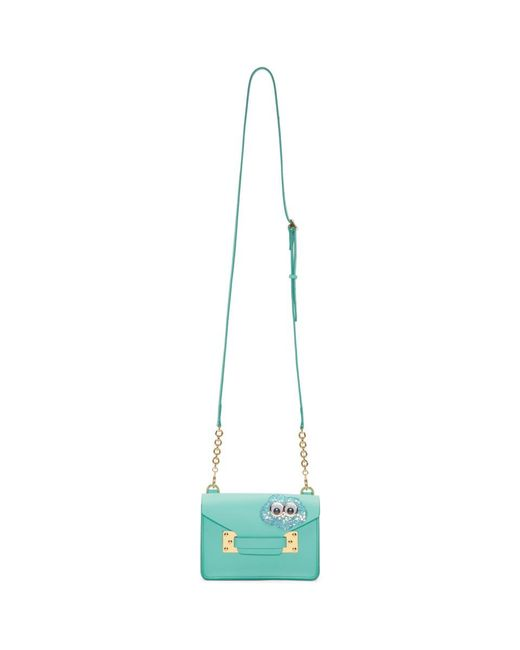 Sophie Hulme - Ssense Exclusive Blue Glitter Cloud Nano Milner Crossbody Bag - Lyst
