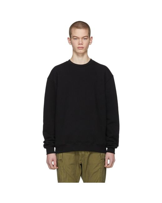John Elliott - Black Oversized Crewneck Sweatshirt for Men - Lyst