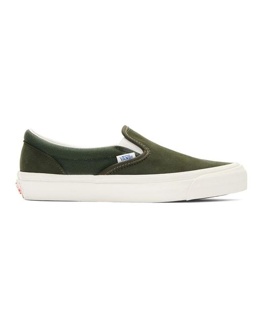 1395f4a5e086f9 Lyst - Vans Classic Slip On Lx in Green for Men - Save 61%
