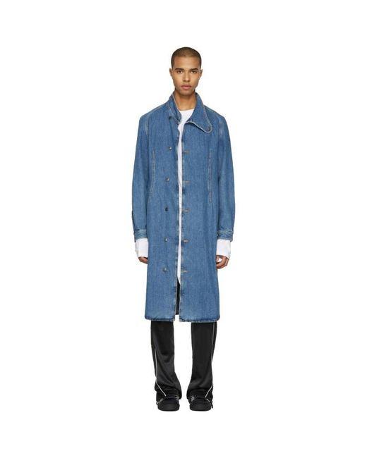 J.W. Anderson   Blue Indigo Denim Coat for Men   Lyst