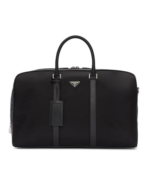 Prada - Black Nylon Duffle Bag for Men - Lyst