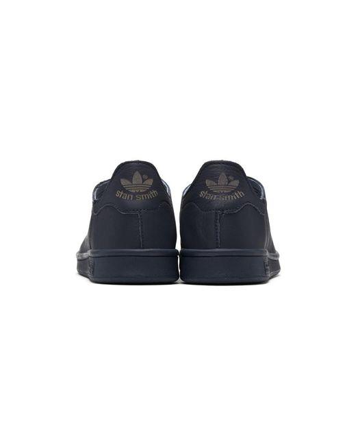 Lyst Adidas Originals in Navy Stan Smith Lea in Sock Sneakers in Lea 0b5c5c