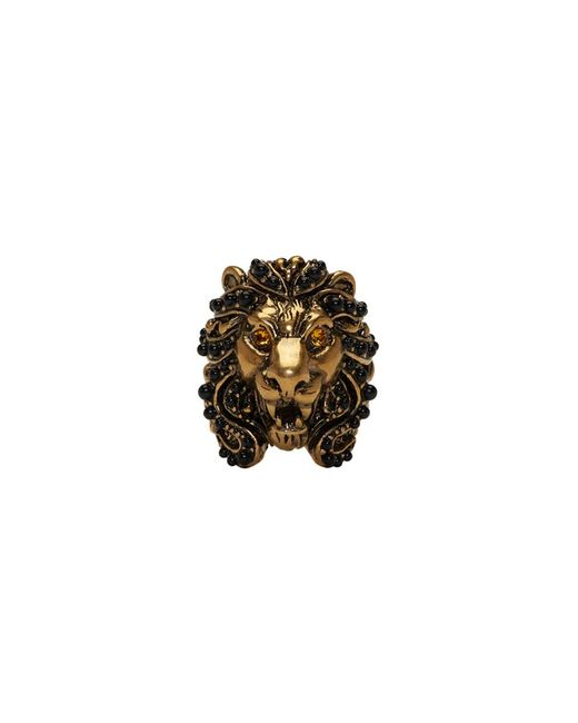 Gucci - Yellow Gold Lion Head Ring - Lyst