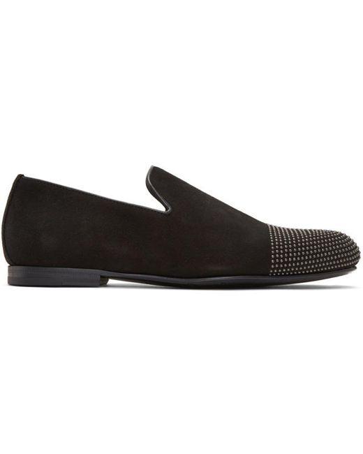 Jimmy Choo | Black Suede Studded Sloane Loafers for Men | Lyst