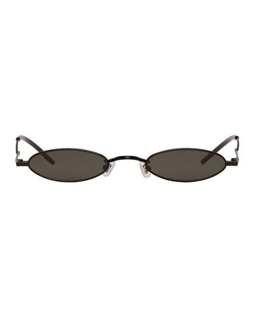 7879bb221e Lyst - Gentle Monster Ssense Exclusive Black Vector Sunglasses in Black