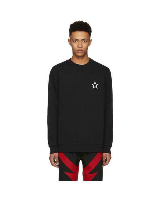 Givenchy - Black Star Sweatshirt for Men - Lyst