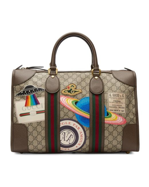 Gucci - Brown Gg Supreme Courrier Tote - Lyst