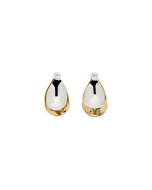 Charlotte Chesnais - Metallic Gold And Silver Mini Petal Earrings - Lyst