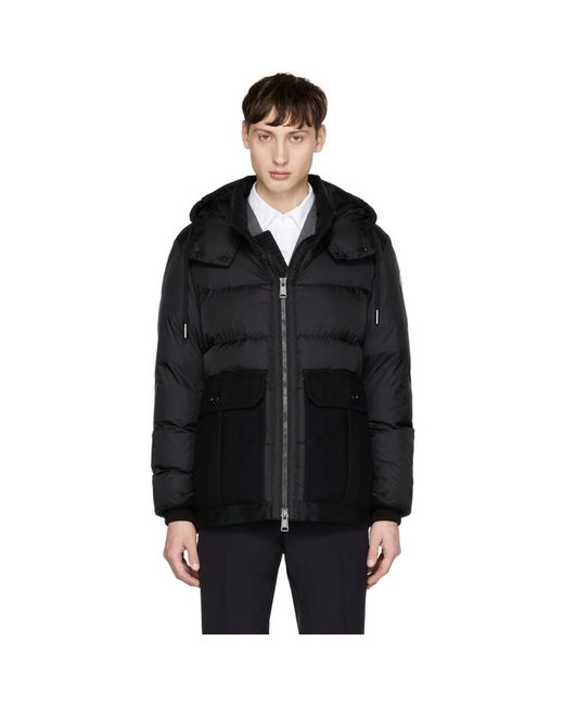 Moncler - Black Down Vitoux Jacket for Men - Lyst