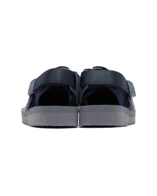 SUICOKE Navy Bita-V Sandals k6z3Usc