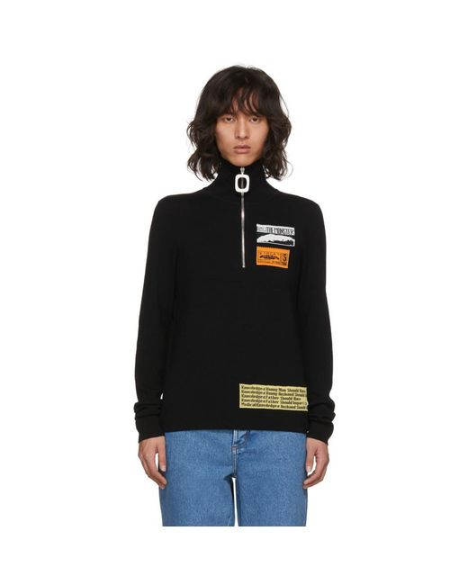 J.W. Anderson - Black Bubblegum Zip Sweater for Men - Lyst