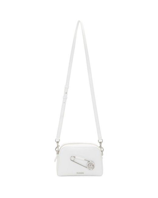 Versus  - White Oversized Safety Pin Camera Bag - Lyst
