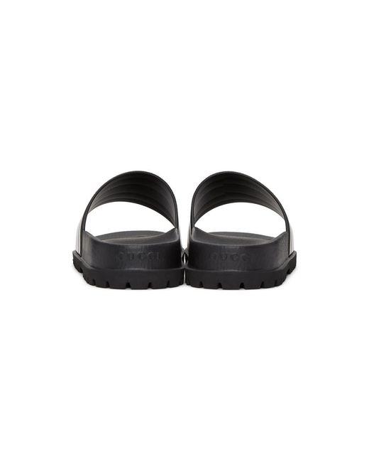 f3b305e8fe41e lyst gucci web flip flops in black for men exquisite design 8328e ...
