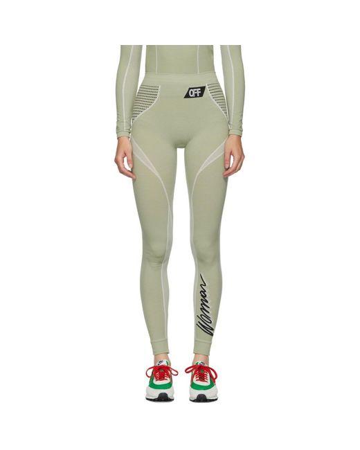 Legging vert Athletic Off-White c/o Virgil Abloh en coloris Green