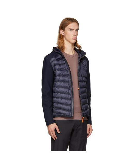 ... Parajumpers - Blue Navy Warm-up Nolan Jacket for Men - Lyst ...