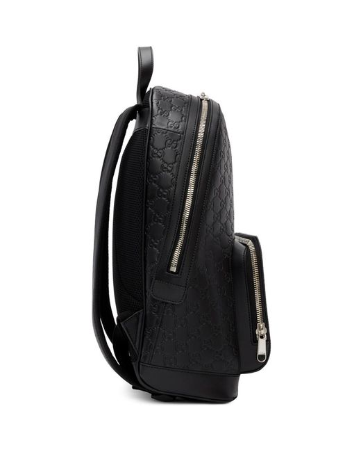 09908a09efb5 Gucci Black ' Signature' Backpack in Black for Men - Lyst
