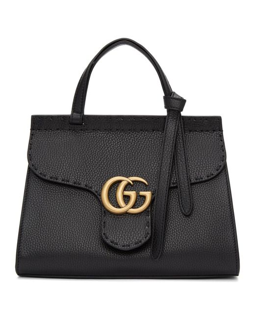 Lyst - Gucci Black Mini GG Marmont Bag in Black b6d2fd0c387bc