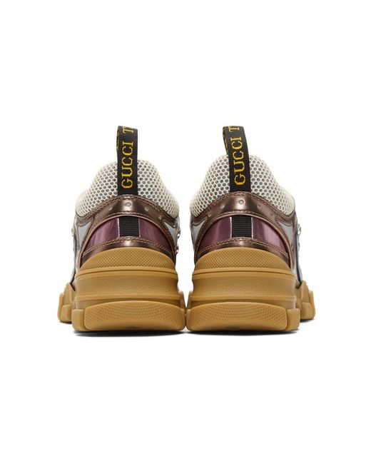 956e955c273d ... Gucci - Multicolor Pink And Green Flashtrek Sneakers - Lyst ...