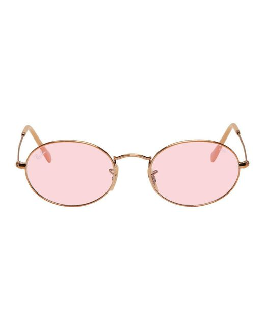 Ray-Ban - Multicolor Copper And Pink Oval Evolve Sunglasses for Men - Lyst