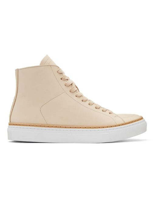 Number288 - Natural Beige Mulberry High-top Sneakers for Men - Lyst