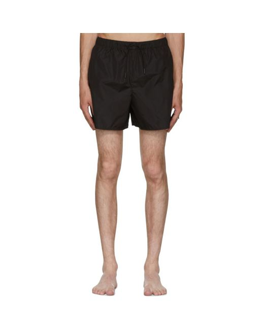 Acne - Black Perry Face Swim Shorts for Men - Lyst