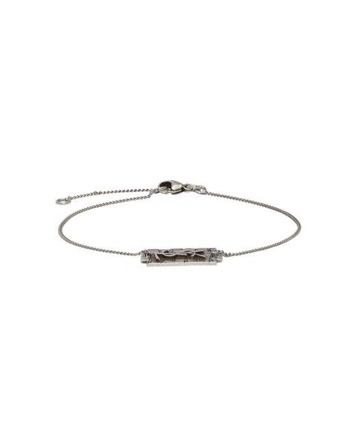 Saint Laurent - Metallic Silver Logo Bracelet for Men - Lyst
