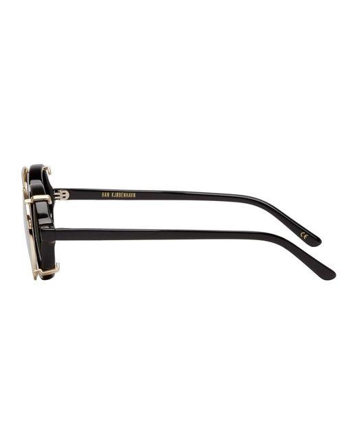 460a77da76d1 ... Han Kjobenhavn - Black And Green Doc Clip-on Sunglasses for Men - Lyst  ...