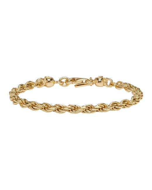 Emanuele Bicocchi - Metallic Ssense Exclusive Gold Birdcage Skull Bracelet for Men - Lyst