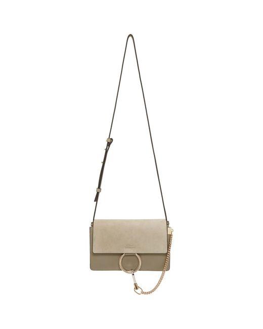 Chloé - Gray Grey Small Faye Bag - Lyst