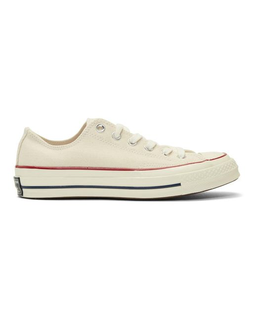 Lyst - Converse Off-white Chuck 70 Low Sneakers in White for Men 4de27ddaf