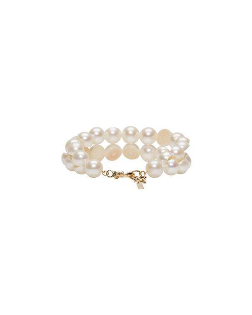 Brand New Unisex Sale Online Websites Cheap Price White Sliced Pearl Tasaki Edition Bracelet Melanie Georgacopoulos Offer ah8cW