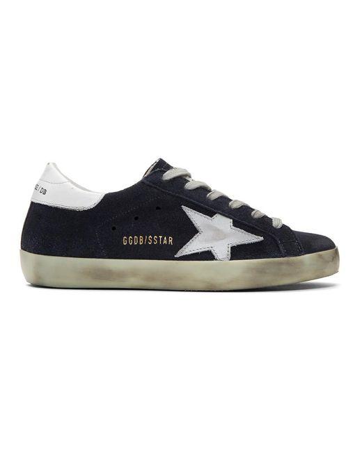 Golden Goose Deluxe Brand - Blue Ssense Exclusive Navy Superstar Sneakers - Lyst