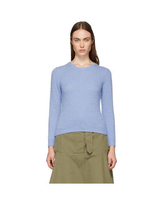 Acne - Blue Shrunken Fit Crewneck Sweater - Lyst