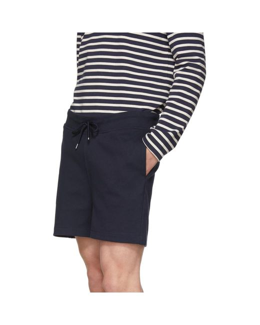 23c10533 ... A.P.C. - Blue Navy Havana Shorts for Men - Lyst ...