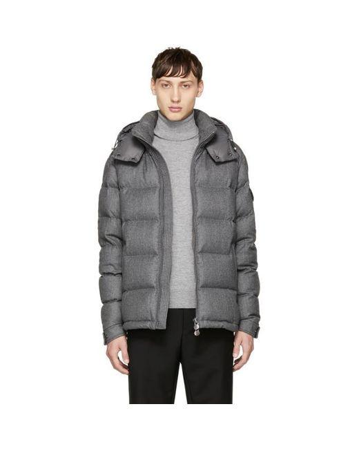 Moncler   Gray Grey Down Montgenevre Jacket for Men   Lyst