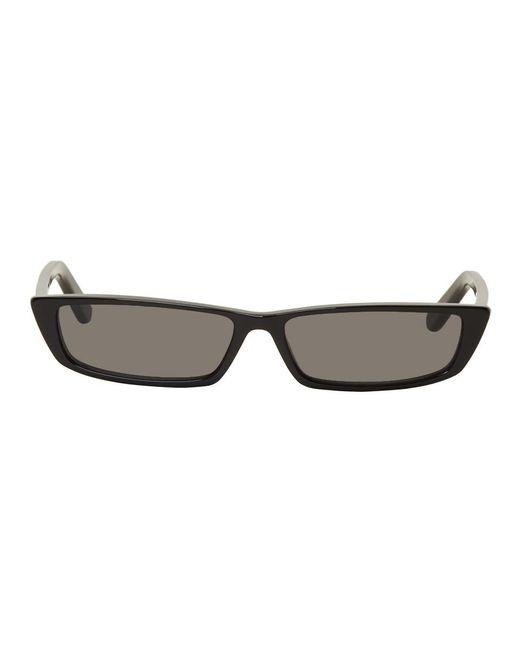 Balenciaga - Black Thin Rectangular Sunglasses - Lyst