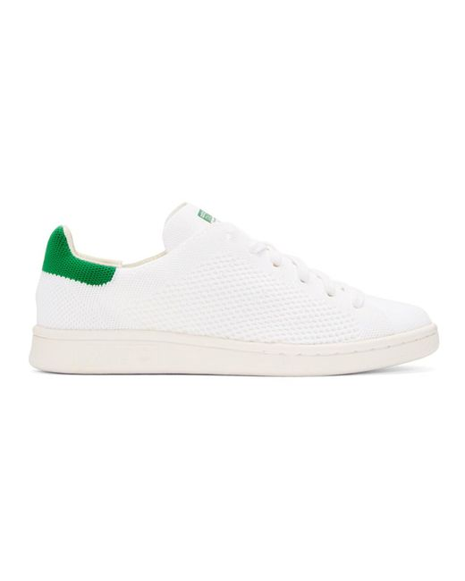Adidas Originals - White & Green Stan Smith Og Pk Sneakers - Lyst