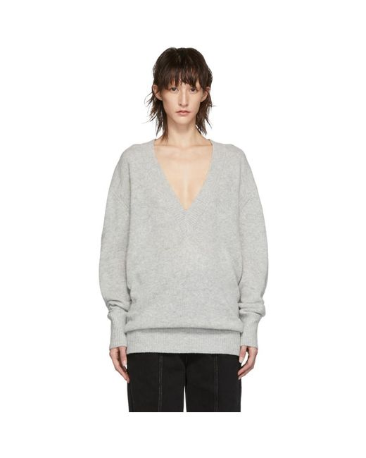 b287d8100c Isabel Marant - Gray Grey Cashmere Cadzi Sweater - Lyst ...